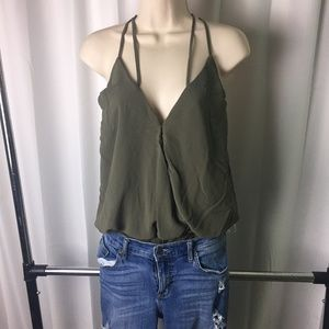 Army Green BodySuit Top